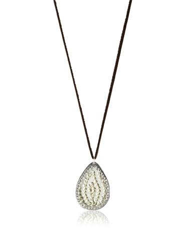 Presh Egret Teardrop Pendant Necklace, Silver