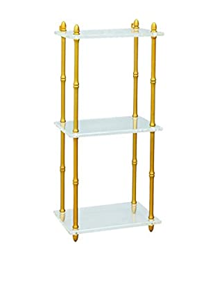 City Scape Accents Carmel Shelf, Brass/Lucite