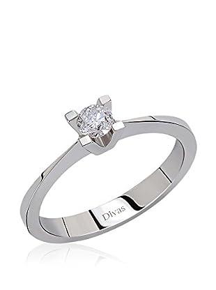 Divas Diamond Anillo 0, 10 Carat Diamond Solitaire Ring (Gold)