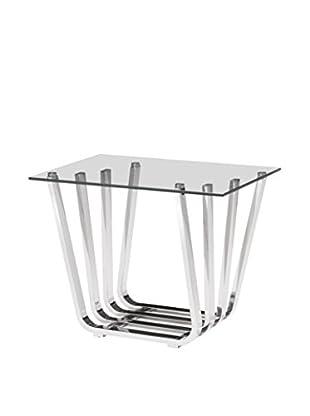 Zuo Modern Fan Side Table, Chrome