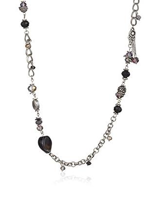 Inori Halskette  schwarz/grau