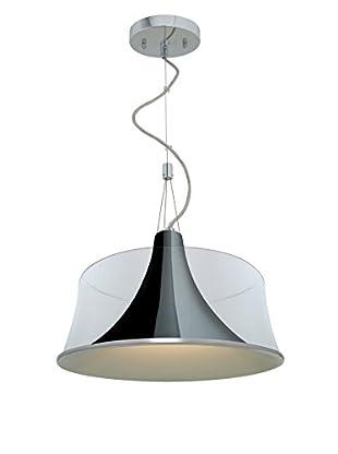 Access Lighting Metalico 1-Light Pendant, Chrome/Clear