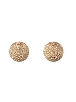 Silver One Pendientes Bola Brillante Oro