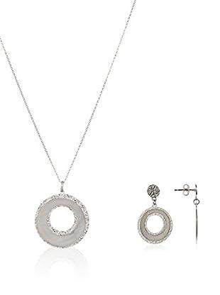 United Pearl Conjunto de cadena, colgante y pendientes plata de ley 925 milésimas
