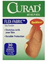 Curad Flex-Fabric,  3/4 Inches X 3 Inches bandages, 30 count