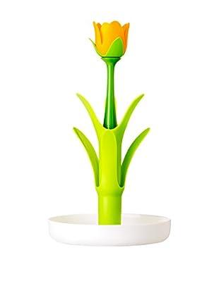 VIGAR Escurrevasos Flower Power Blanco / Verde / Naranja
