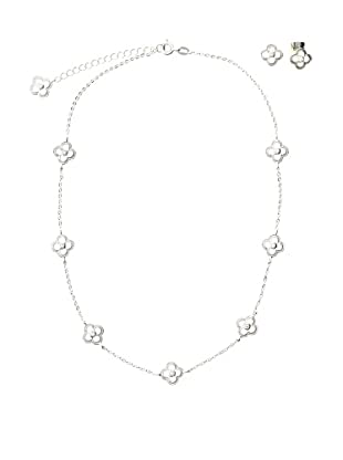 Frida Girl Silver Necklace and Earrings Set