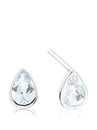 PARIS VENDÔME Pendientes  Blue Drop 2 Topazes  Oro Blanco