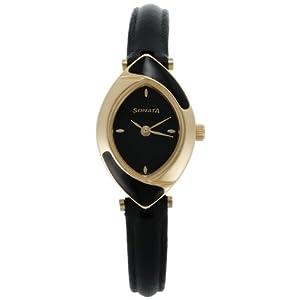 Sonata Analog Black Dial Women's Watch - NF8069YL01