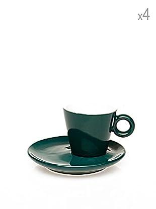 Tognana 4er Set Teetassen + Untertassen