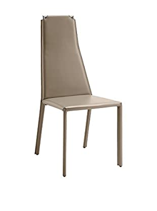 Domitalia Cliff Chair, Taupe Leather