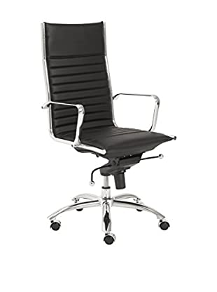 Euro Style Dirk High Back Office Chair, Black