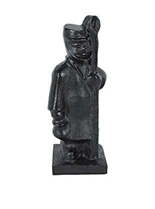 Iron Fisherman Statue, Brown/Black
