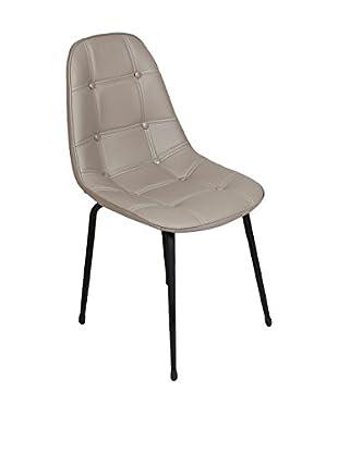 Modern Home Stuhl taupe/schwarz