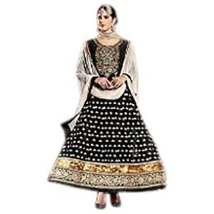 Black and golden color Anarkali from the Frinkytown