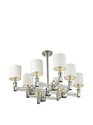 Artistic Lighting Chandelier, Polished Nickel / Clear