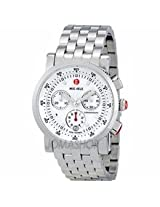 Michele Sport Sail White Dial Stainless Steel Bracelet Watch Mww01C000021