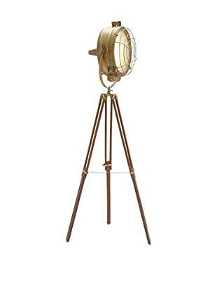 1-Light Studio Light, Natural/Brass