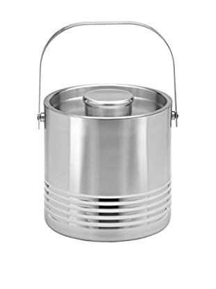 Kraftware Ripple Linea Stainless Steel 3-Qt. Handled Ice Bucket