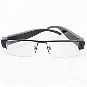 Gadget Advice Latest 1080 P Full HD Ultrathin Spy High Definition Plain Glass Spectacles Hidden Camera 5 Mega Pixels Cmos Black