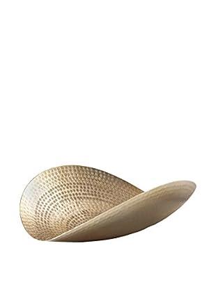 Torre & Tagus Mantra Hammered Curved Platter, Gold