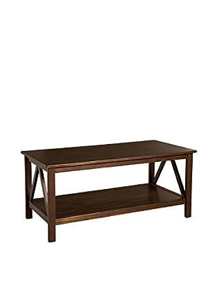 Linon Home Décor Titian Coffee Table, Antique Tobacco