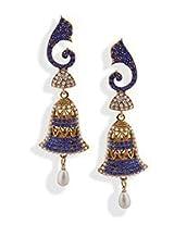 Blue Stone Dangler Earrings