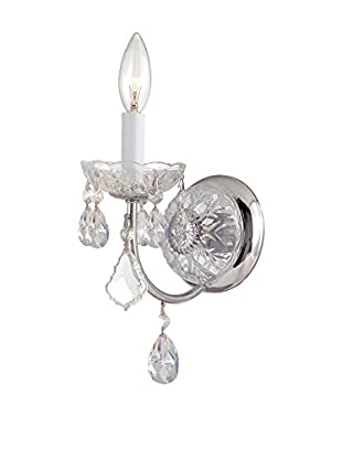 Gold Coast Lighting Imperial 1-Light Clear Crystal Chrome Sconce, Polished Chrome