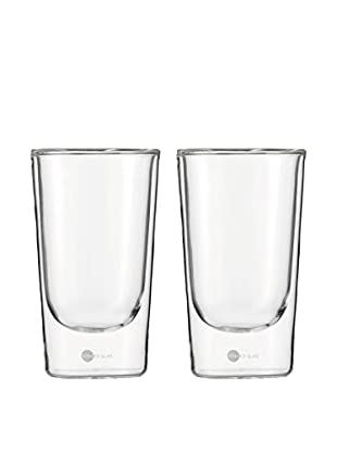 Jenaer Glas Set of 2 Hot 'n' Cool Collection 12-Oz. Double Walled Glass Tumblers
