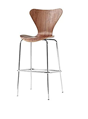 Manhattan Living Jays Bar Stool Chair, Walnut