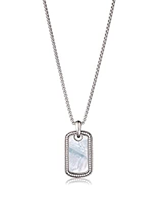 Stephen Oliver Men's Mother-Of-Pearl & CZ Tag Necklace