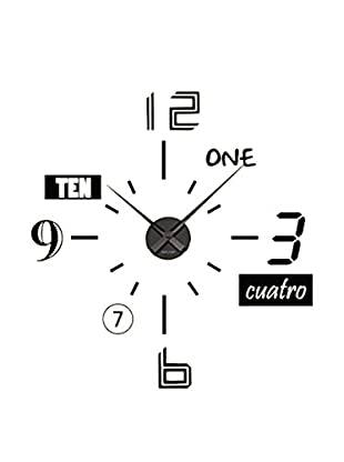 Ambiance Live Wandtattoo Clock with different kind of numbers schwarz