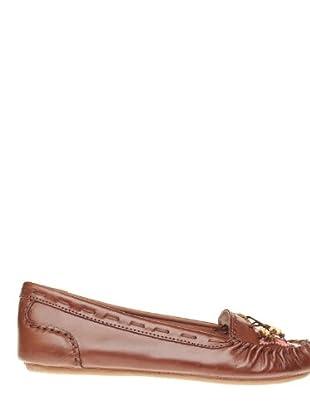 Giceri Zapatos Floral (marrón)