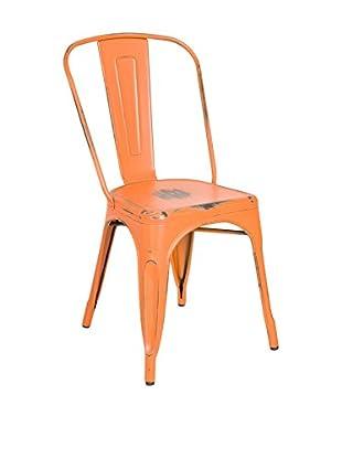 LO+DEMODA Stuhl 2er Set Antique Terek Vintage orange