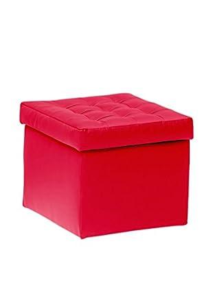 13 Casa Hocker mit Stauraum Toy Small rot 42x45x45h