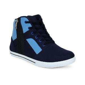 Get Glamr Men's Blue Ankle Length Casual Shoes