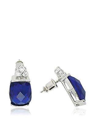Shiny Cristal Ohrringe rhodiniertes Silber 925