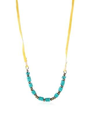Ettika Blonde & Antique Brass Turq Me On Necklace