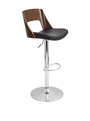 LumiSource Valencia Mid Century Modern Adjustable Barstool
