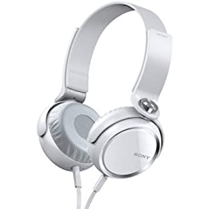 SONY MDR-XB400 Extra Bass Stereo Headphones White