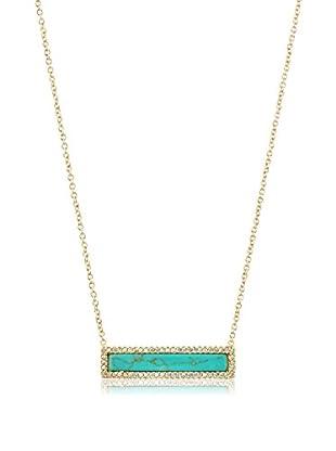 Chloe & Theodora Turquoise Inlay Bar Necklace