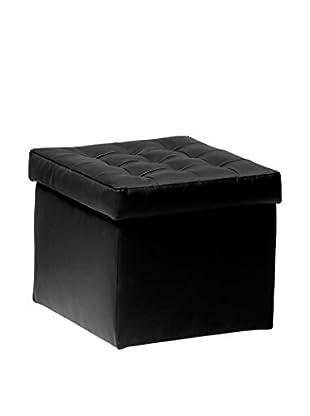 13casa Puff Contenedor Toy Negro