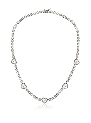 CZ by Kenneth Jay Lane Floating CZ Hearts Necklace
