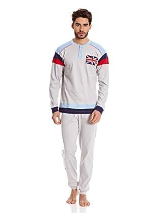 Muslher Pijama Caballero Con Tapeta Bordado Bandera