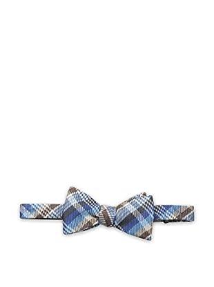 Bruno Piattelli Men's Plaid Bow Tie, Teal