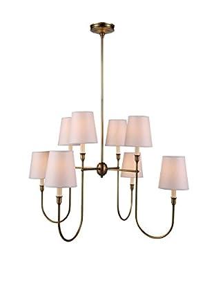 Urban Lights Lancaster 8-Light Pendant Lamp, Antique Bronze