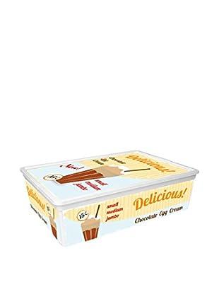 KIS Set Caja de Almacenamiento 6 Uds. C-Box Style L Blanco/Multicolor