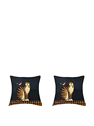 LITTLE FRIENDS by MANIFATTURE COTONIERE Kissenbezug 2er Set Tiger Cat