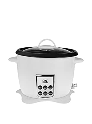 Kalorik Multifunction Digital Rice Cooker With Retractable Power Cord, White