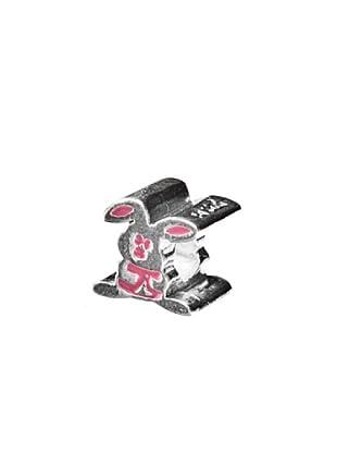 Abalorio de Plata de Ley 925 Conejo Rosa rosa